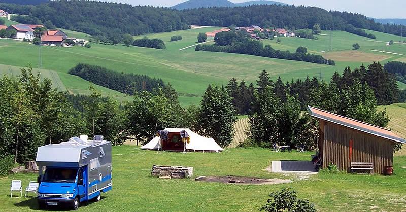 zelten im bayerischen wald